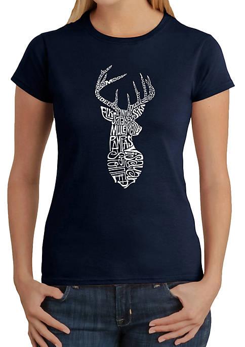 Word Art T-Shirt - Types of Deer