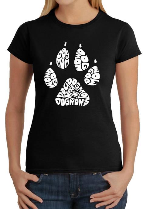Womens Word Art Graphic T-Shirt - Dog Mom
