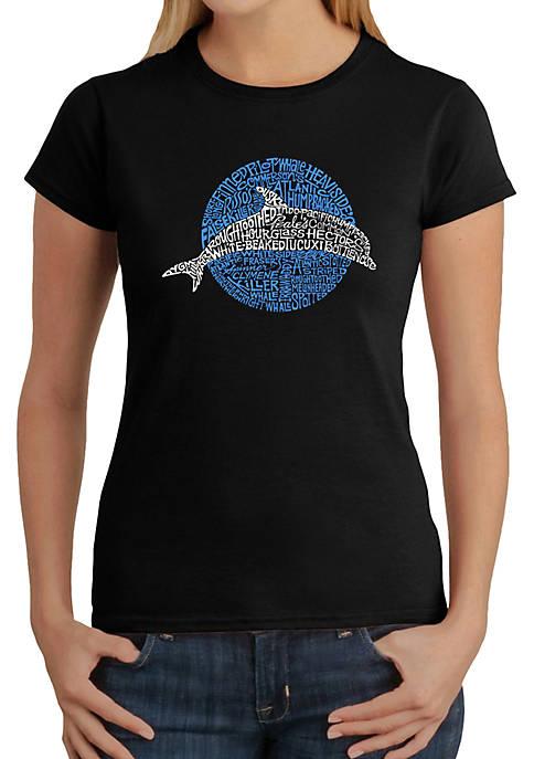 Word Art T-Shirt - Species of Dolphin