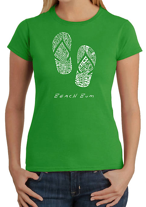 Word Art T Shirt – Beach Bum