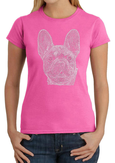 LA Pop Art Womens Word Art Graphic T-Shirt