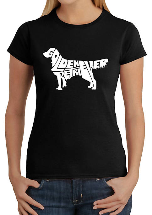 Word Art T-Shirt - Golden Retriever