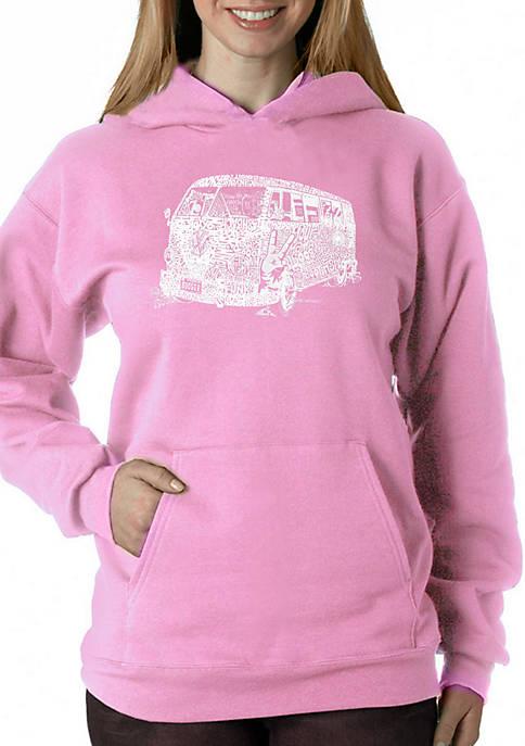 LA Pop Art Word Art Hooded Sweatshirt -The