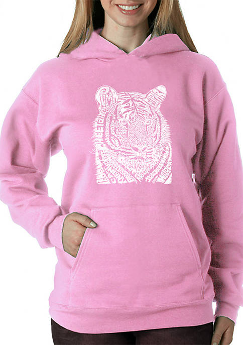 Word Art Hooded Sweatshirt - Big Cats