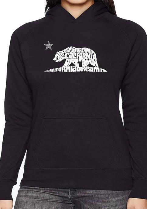Womens Word Art Hooded Sweatshirt -California Dreamin