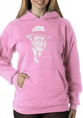 La Pop Art Womens Word Art Hooded Sweatshirt - Al Capone Original Gangster