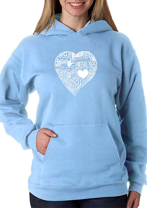 Word Art Hooded Sweatshirt - Love in 44 Different Languages