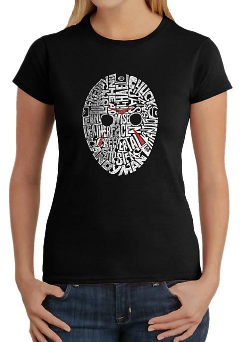Word Art T-Shirt - Slasher Movie Villians