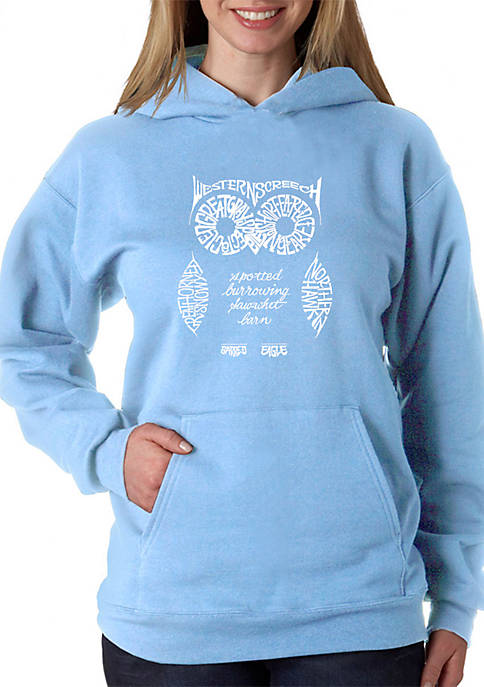 Word Art Hooded Sweatshirt - Owl