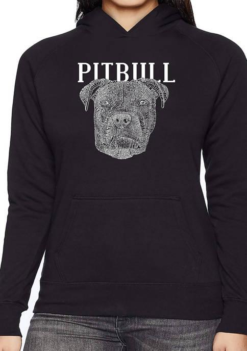 LA Pop Art Womens Word Art Hooded Sweatshirt