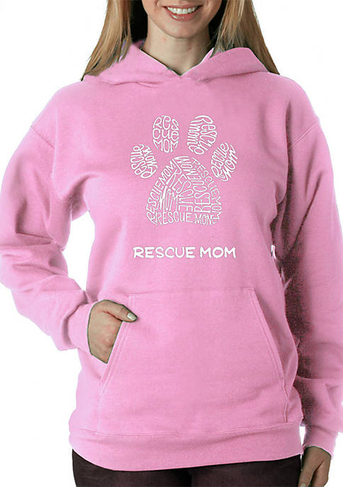 Word Art Hooded Sweatshirt - Rescue Mom