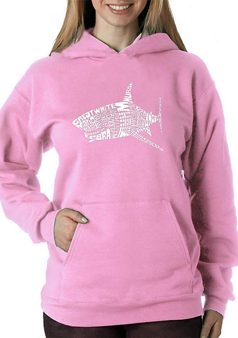 Word Art Hooded Sweatshirt - Species of Sharks