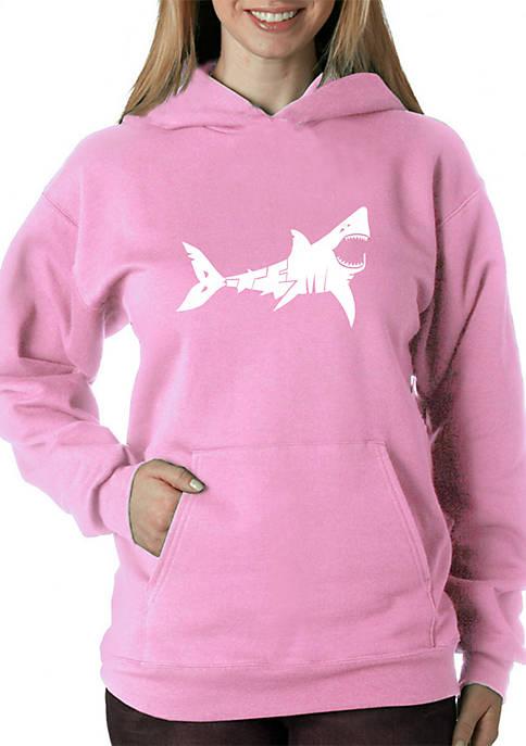 Word Art Hooded Sweatshirt - Bite Me