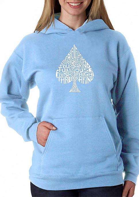 Word Art Hooded Sweatshirt - Order of Winning Poker Hands