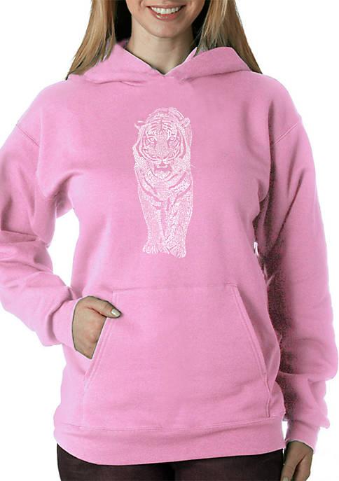 LA Pop Art Word Art Hooded Sweatshirt
