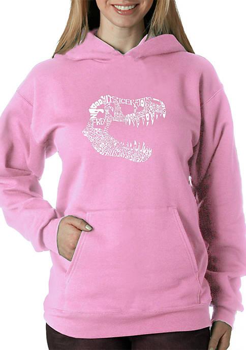 Word Art Hooded Sweatshirt - T Rex