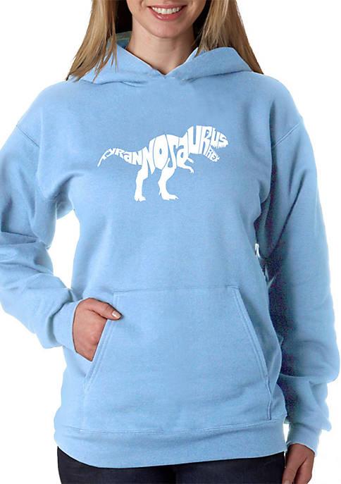 Word Art Hooded Sweatshirt - Tyrannosaurus Rex