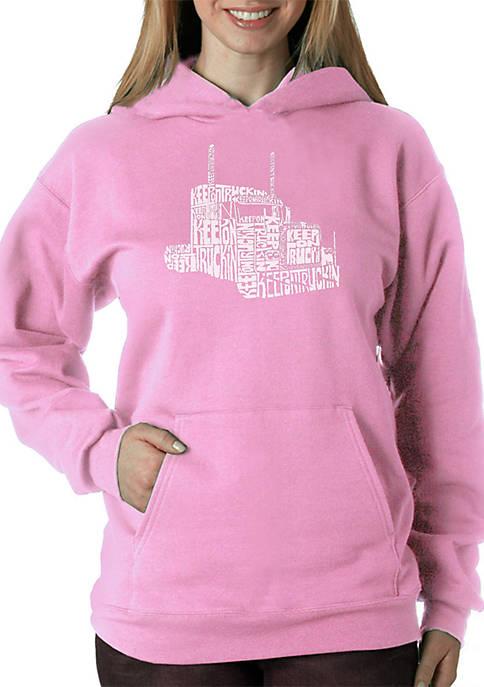 Word Art Hooded Sweatshirt - Keep On Truckin