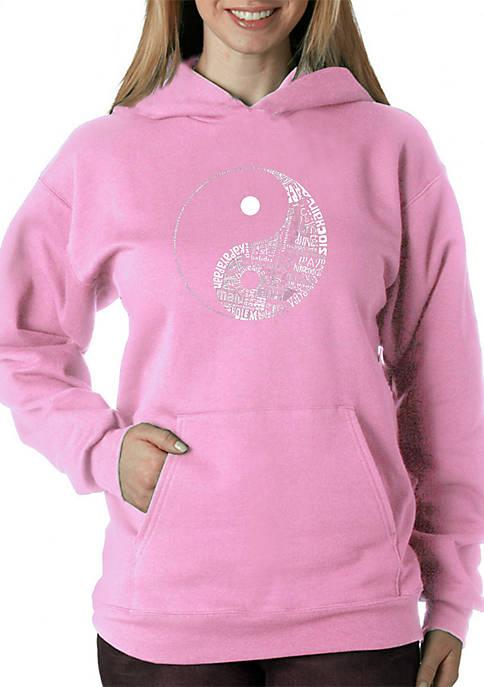Word Art Hooded Sweatshirt - Yin Yang