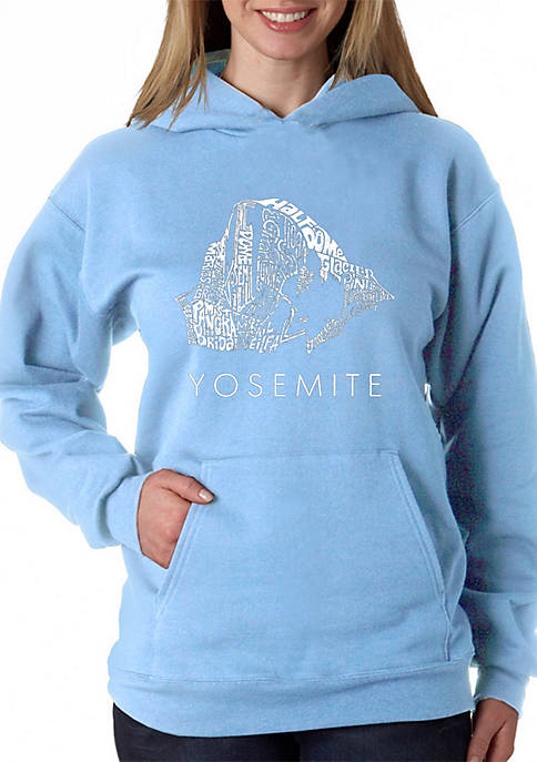LA Pop Art Word Art Hooded Sweatshirt -Yosemite