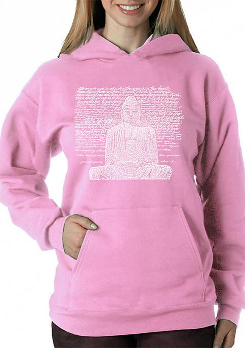 Word Art Hooded Sweatshirt - Zen Buddha