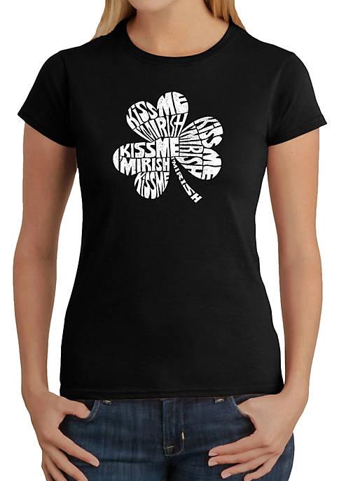 Word Art T-Shirt - Kiss Me Im Irish
