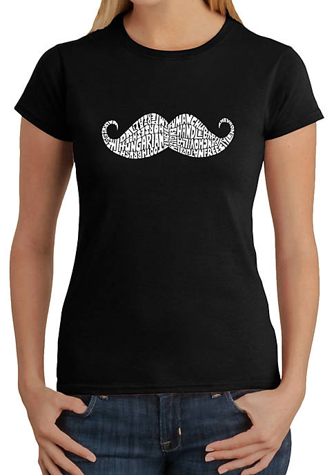 Word Art T-Shirt - Ways to Style a Moustache