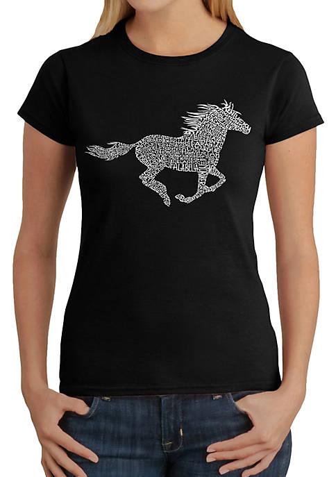 Word Art T-Shirt - Horse Breeds
