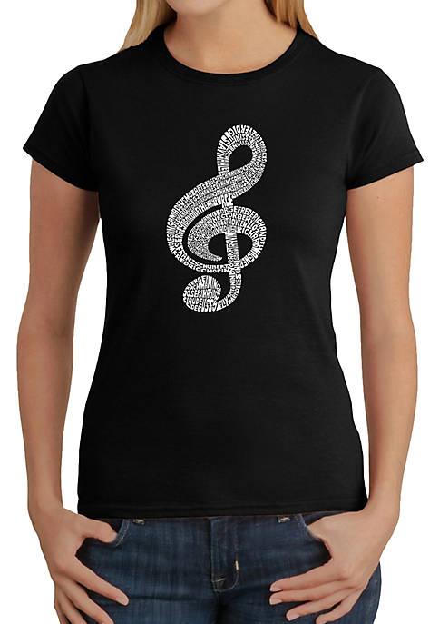 Word Art T-Shirt - Music Note