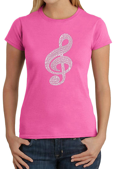 Word Art T-Shirt - Music Note