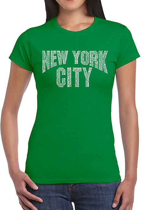 Word Art T-Shirt - NYC Neighborhoods