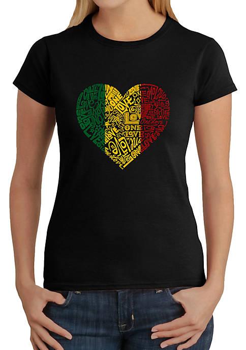 Word Art T-Shirt - One Love Heart