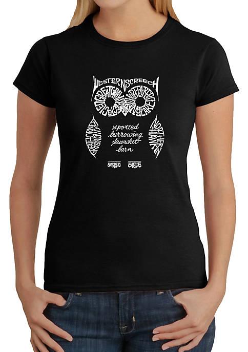 Word Art T-Shirt - Owl