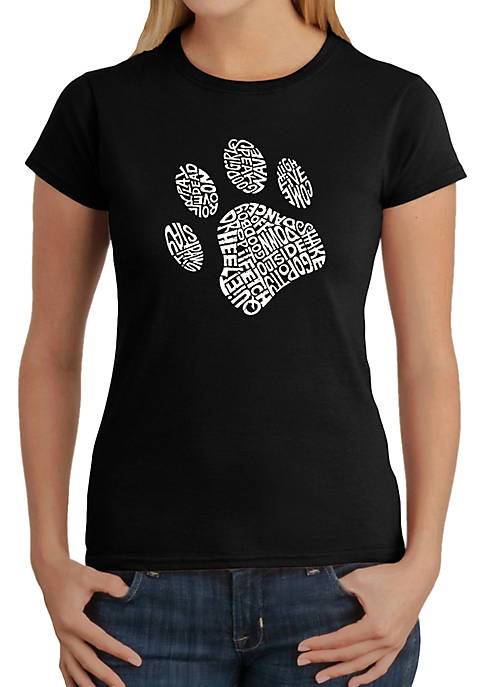 Word Art T-Shirt - Dog Paw
