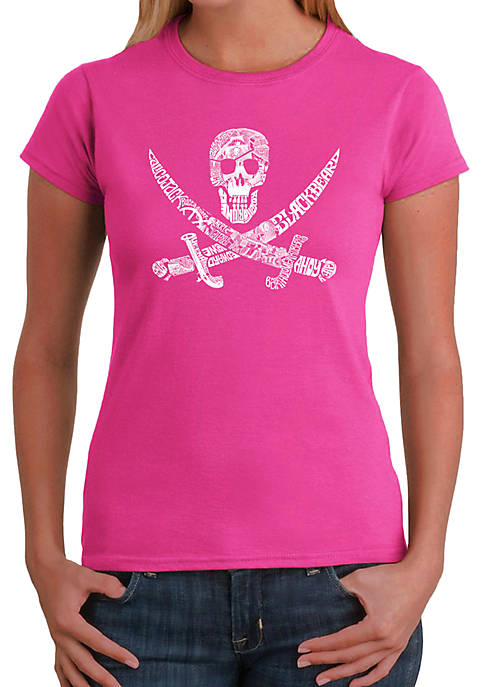 Word Art T-Shirt - Pirate Captains, Ships and Imagery