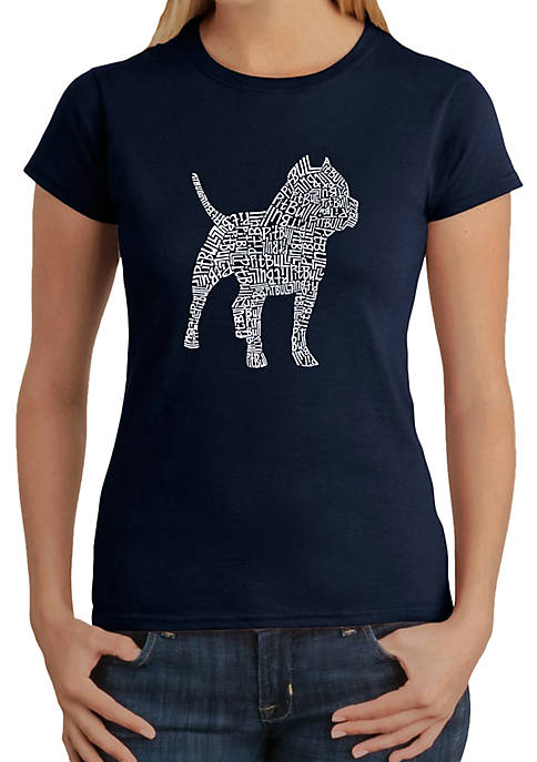 Word Art T-Shirt - Pit Bull
