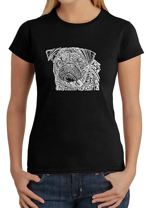 Word Art T-Shirt - Pug Face