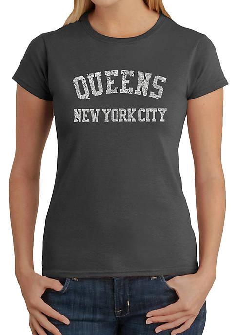 Word Art T-Shirt - Popular Neighborhoods in Queens NY