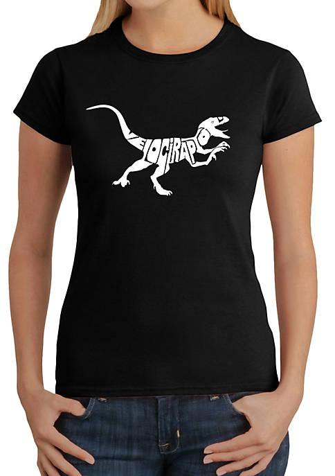 Premium Blend Word Art T-Shirt - Velociraptor