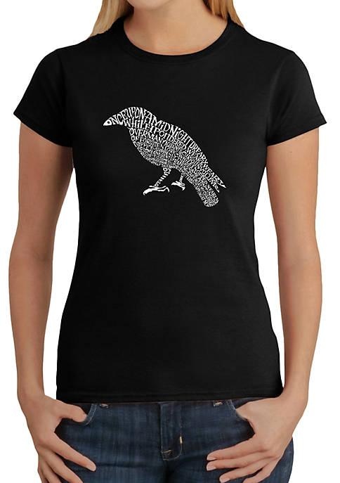 Word Art T-Shirt - Edgar Allen Poes The Raven