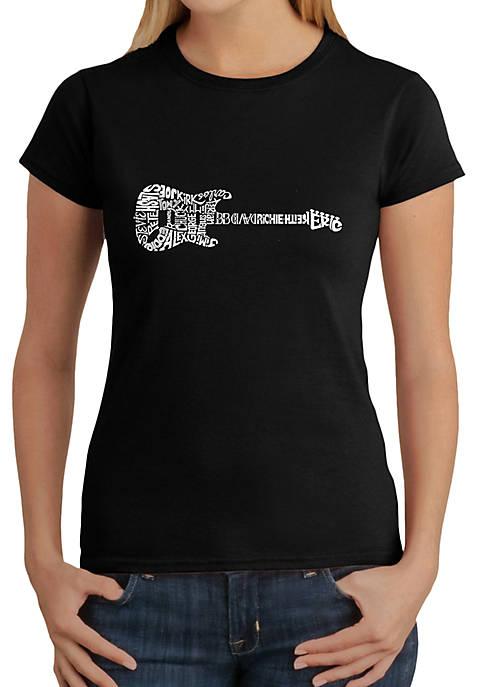 Word Art T-Shirt - Rock Guitar