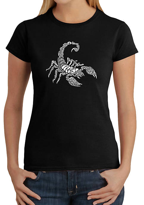 Word Art T-Shirt - Types of Scorpions