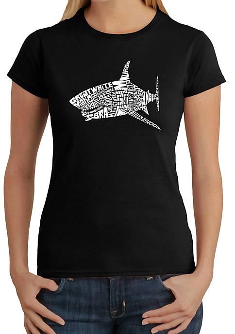 Word Art T-Shirt - Species of Shark
