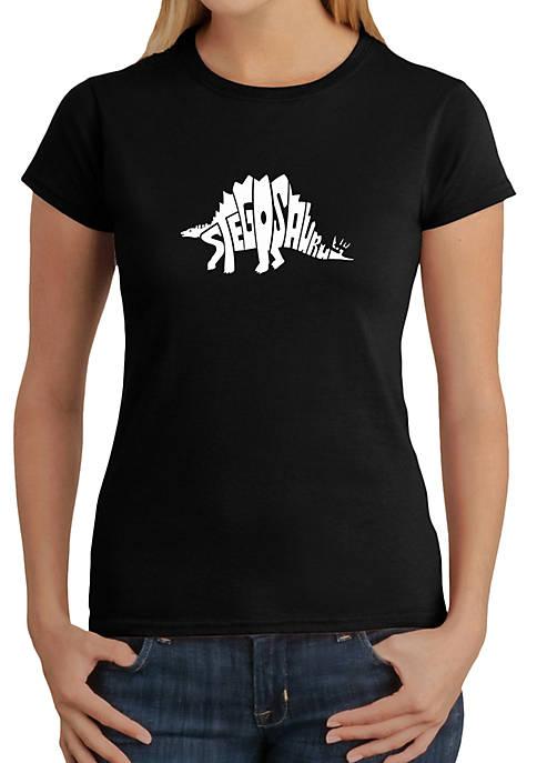 Word Art T-Shirt - Stegosaurus