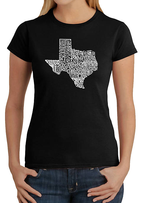 Word Art T-Shirt - The Great State of Texas