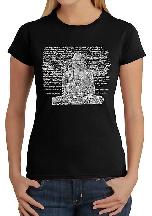 Word Art T-Shirt - Zen Buddha