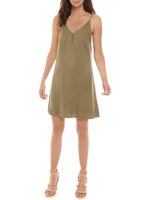 Womens Button Cami Dress