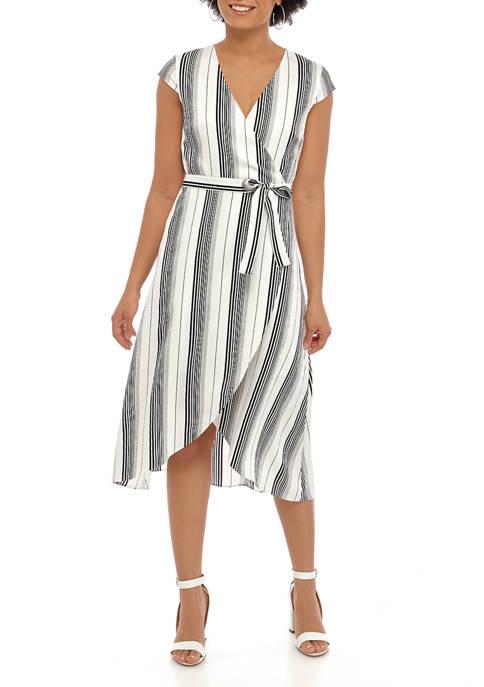 Madison Womens Midi Wrap Dress