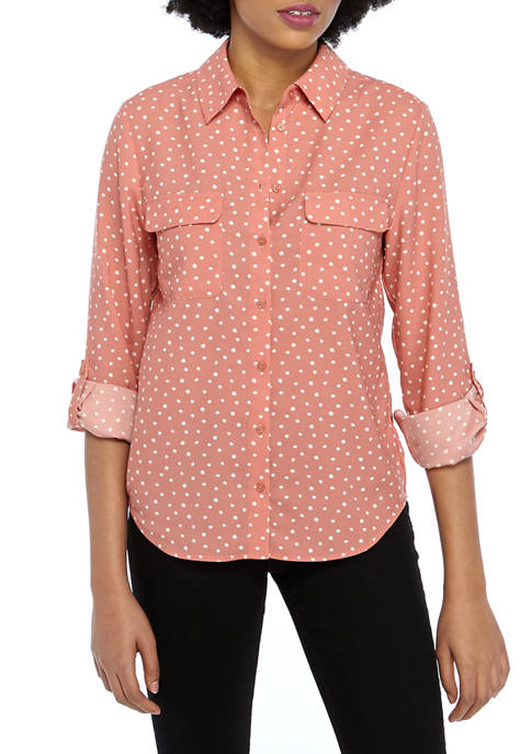 Madison Womens Button Down Stylist Top