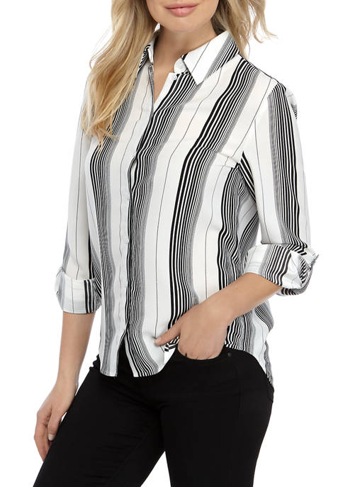 Womens Button Down Stylist Top
